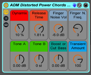Distorted Electric Guitar Power Chords