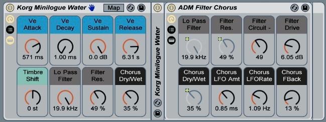 4 Free Ableton Live Instrument Racks built from samples of Korg's Minilogue