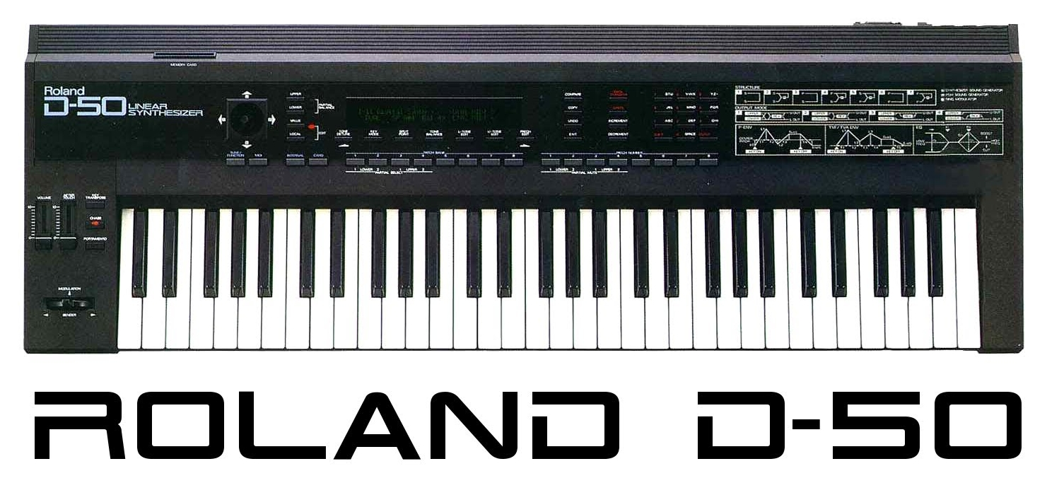 Roland D-50 from 1987, featuring linear synthesis.