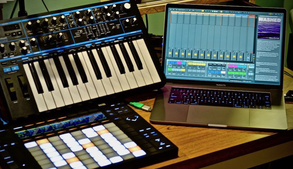 Novation's Bass Station 2 was the primary synth I bathed in a sea of audio effects to create WASHED.