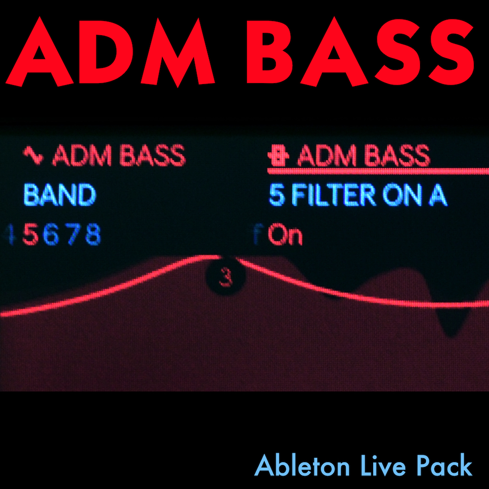 ADM BASS - 123 bass instruments for Ableton Live, in a self-installing Ableton Live Pack.