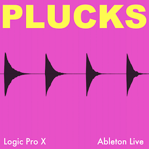 PLUCKS - Quick pluck synth sounds for melody and percussion.