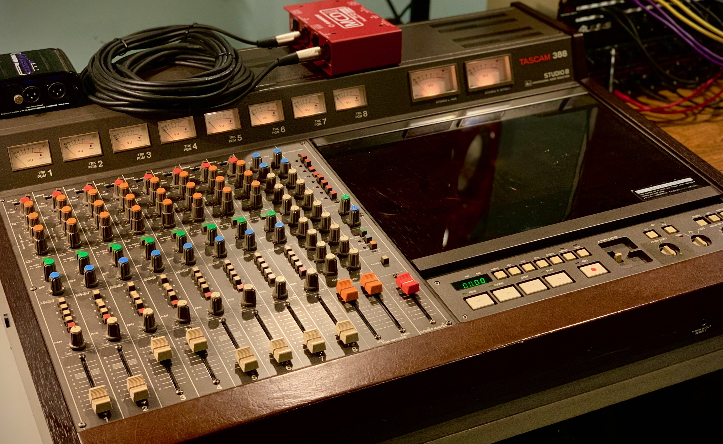 Each Prophet 6 patch was recorded to the Tascam 388 8-track reel-to-reel tape machine.