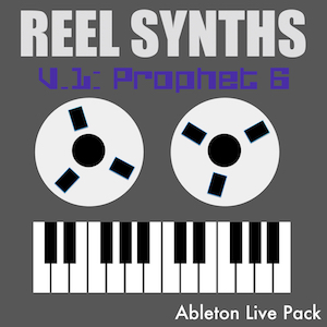 REEL SYNTHS V1 - Prophet 6 analog synth sampled to reel to reel tape.