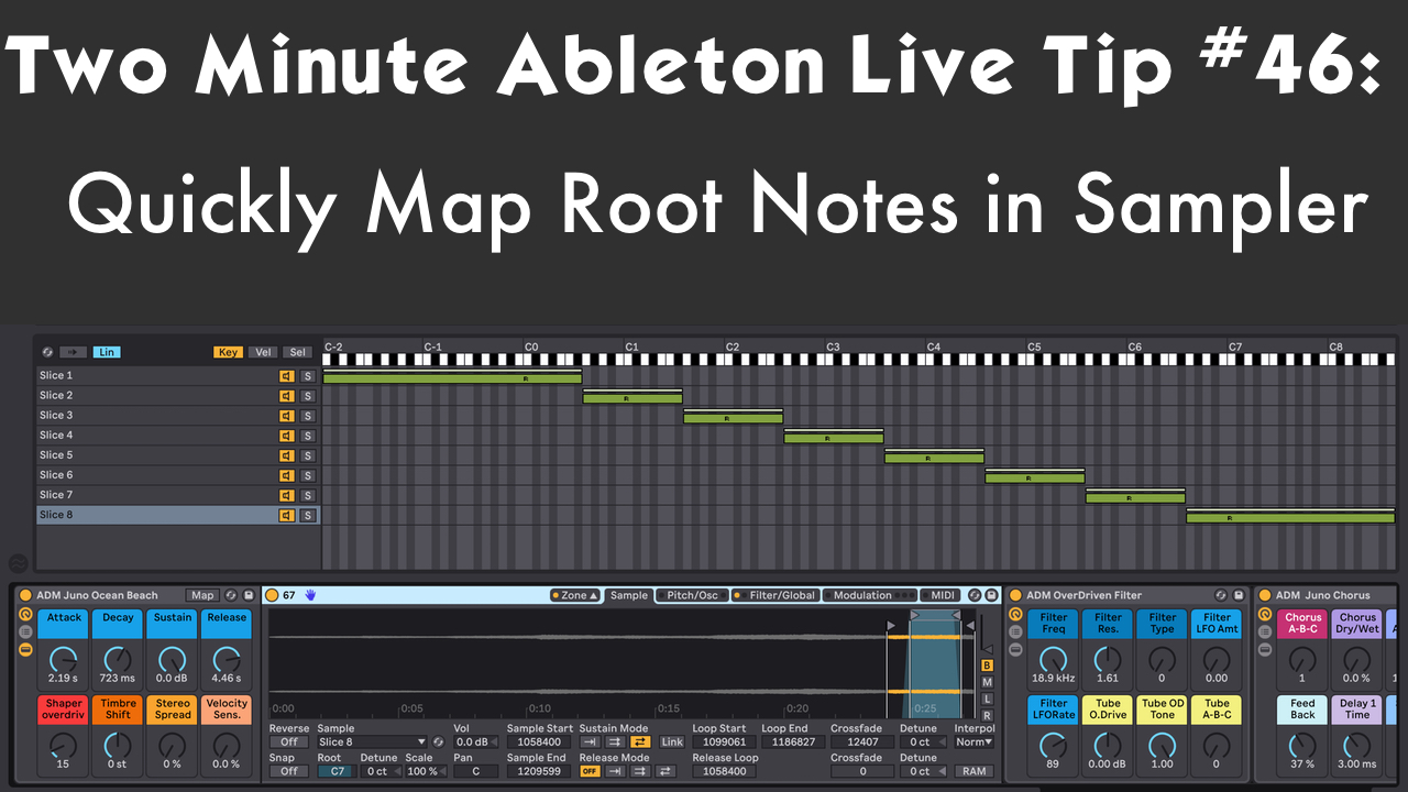 Two Minute Ableton Live Tip #46- Quickly Map Root Notes in