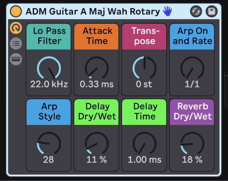 Quickly transform the sound of each instrument with carefully mapped Macros.