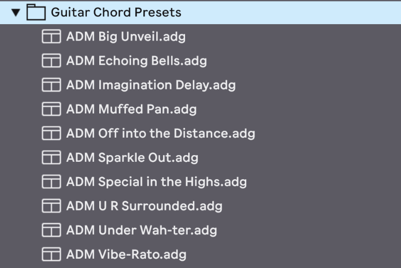 10 Custom Ableton Live Audio Effects Designed for GUITAR CHORDS