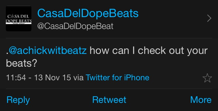 This tweet  will  be visible to @casadeldopebeats' followers.
