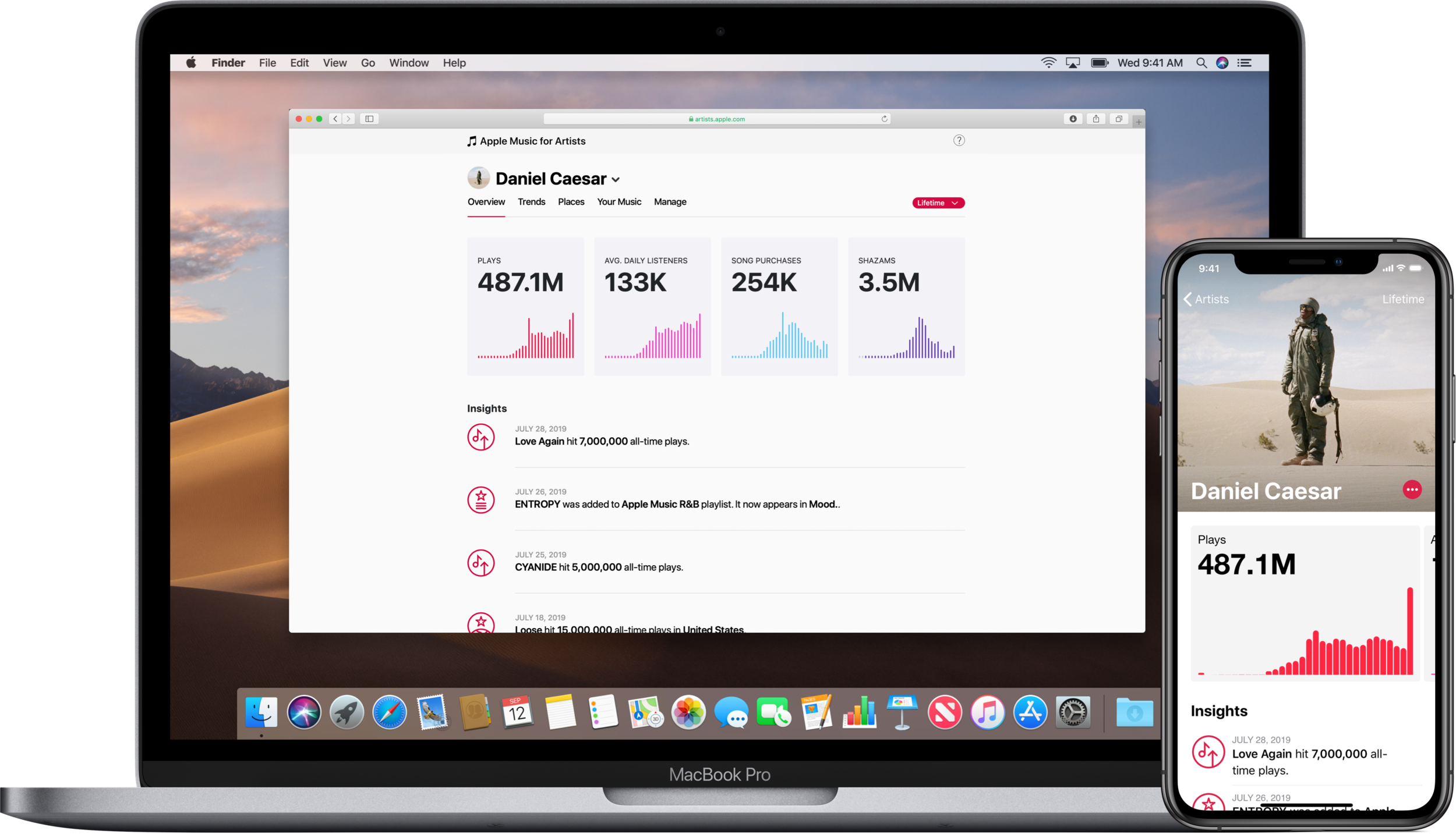 Recently out of beta, Apple Music for Artists offers play statistics and listener demographics.