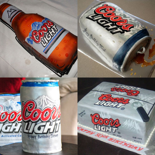 Coors Light Cakes // Imitation is the sweetest  form of flattery