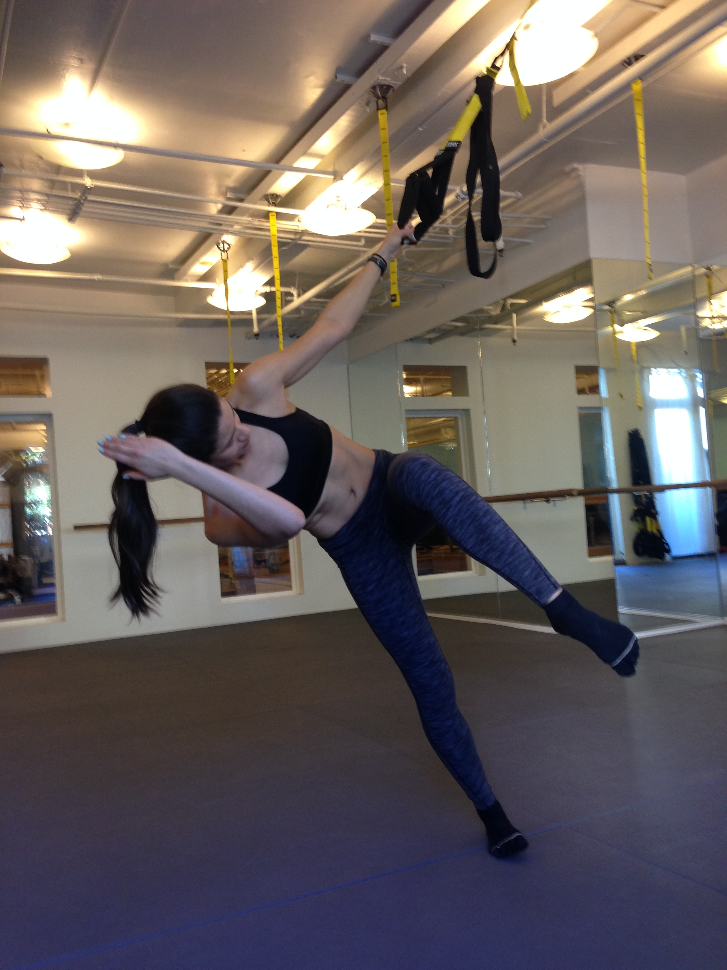 My favorite picks:    Pilates for tone all over, form, elongation, posture and pure happiness  Cycling/ Spinning and Swimming for cardiovascular endurance, lung capacity and lots of fun  TRX to challenge my stability and Pilates skills