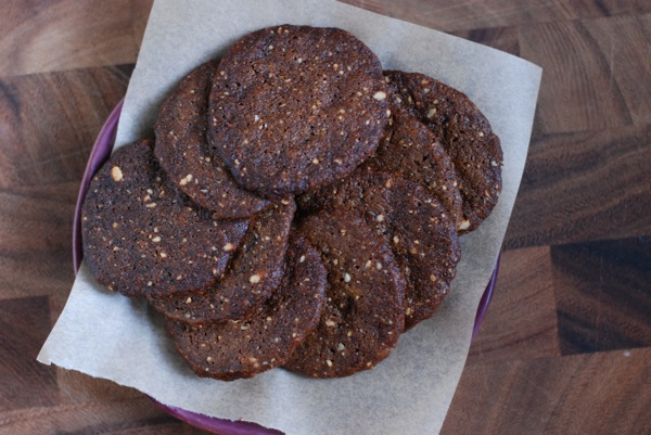 hazelnut molasses crisps plate