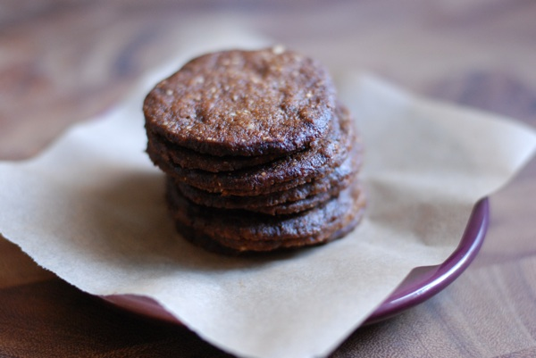hazelnut molasses crisps