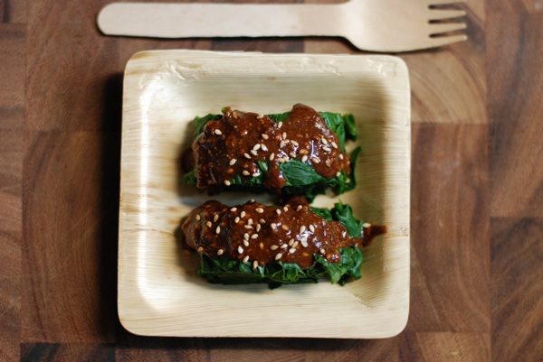 spinach toasted sesame dressing