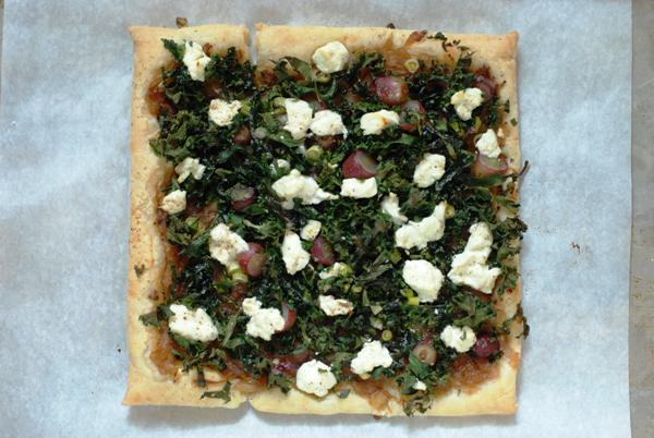 kale tart with grapes 2