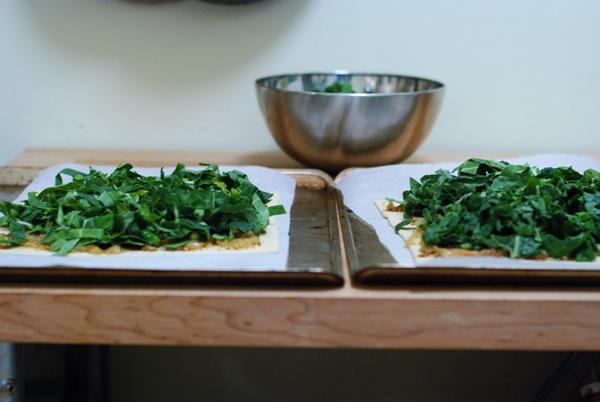 kale tarts before baking