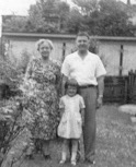 Here I am with my grandmother and my dad.