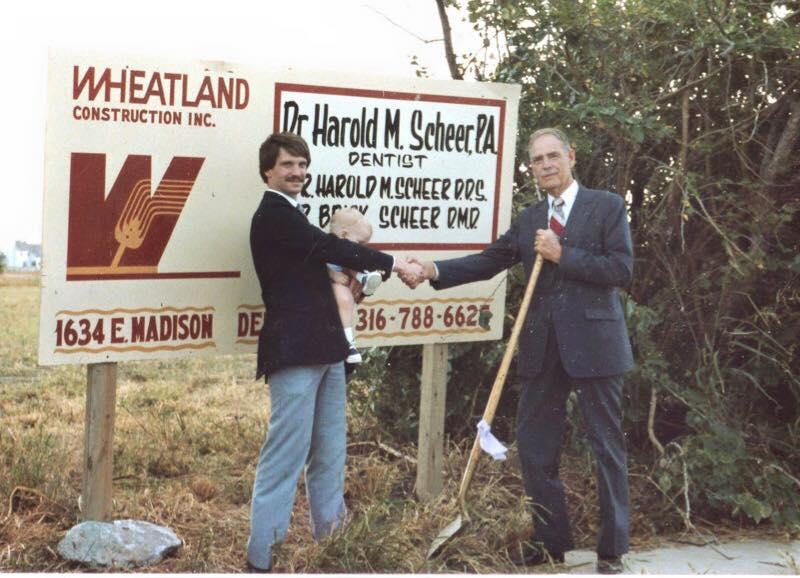 Dr. Brick Scheer and Dr. Harold Scheer (Brick is also holding now Dr. Brandon Scheer)