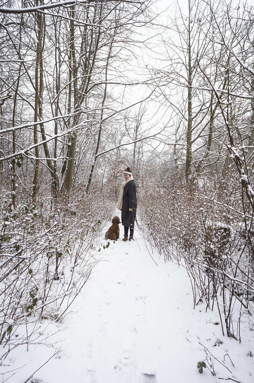Leif and his mum, my friend Susanne. Snow snow snow