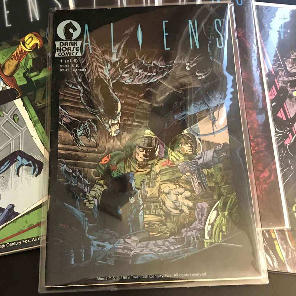 The very first ALIENS comic by Dark Horse.