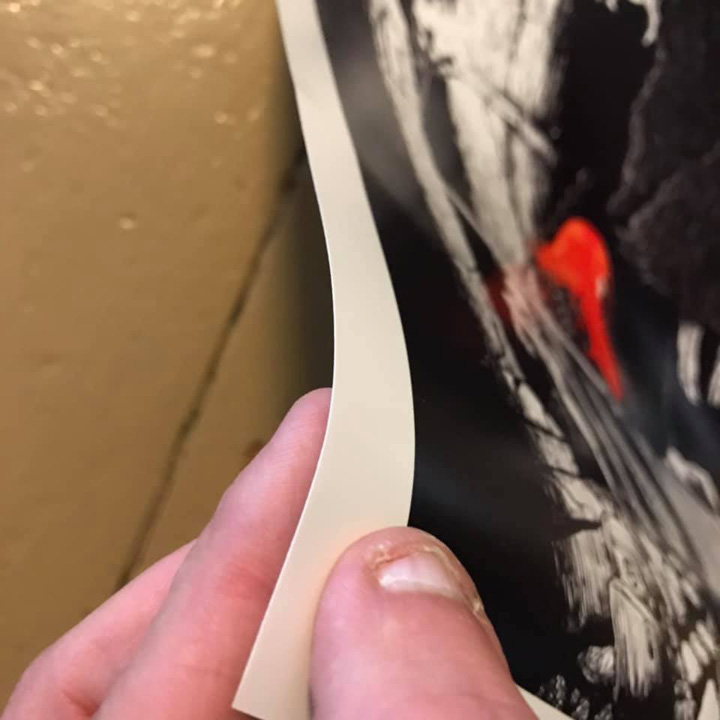This is thickness of the poster and the glossy surface's appearance