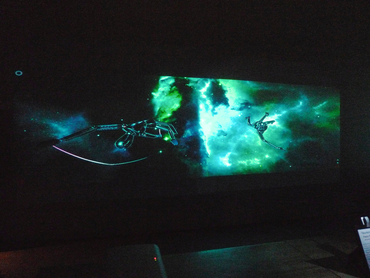 Interactive sensor controlled projection by Paolo Salvagione