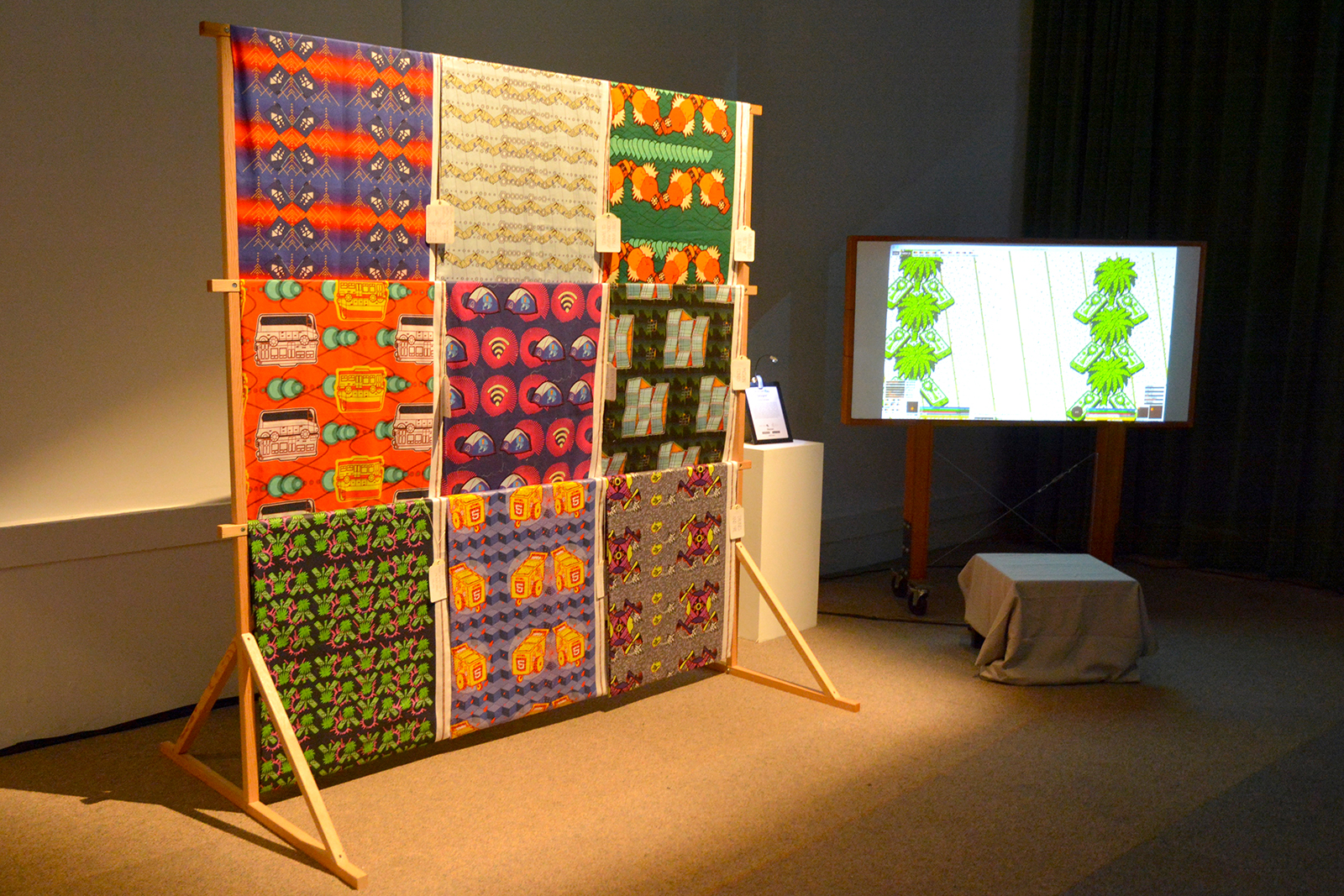 Fabric installation with demo video.