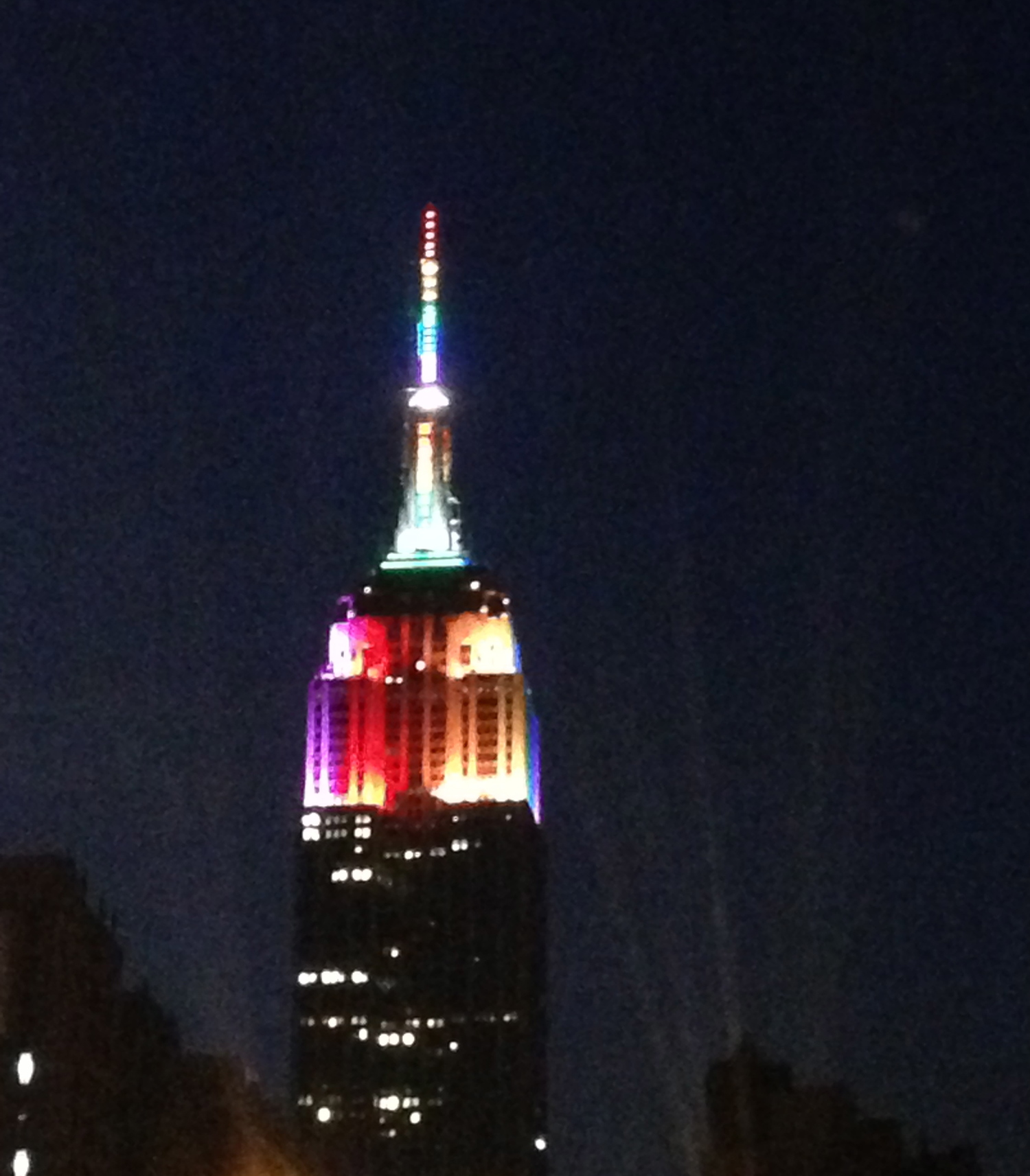 The Empire State Building the evening of the Gay Pride Parade 6/29/14 ©DrNikkiNoce