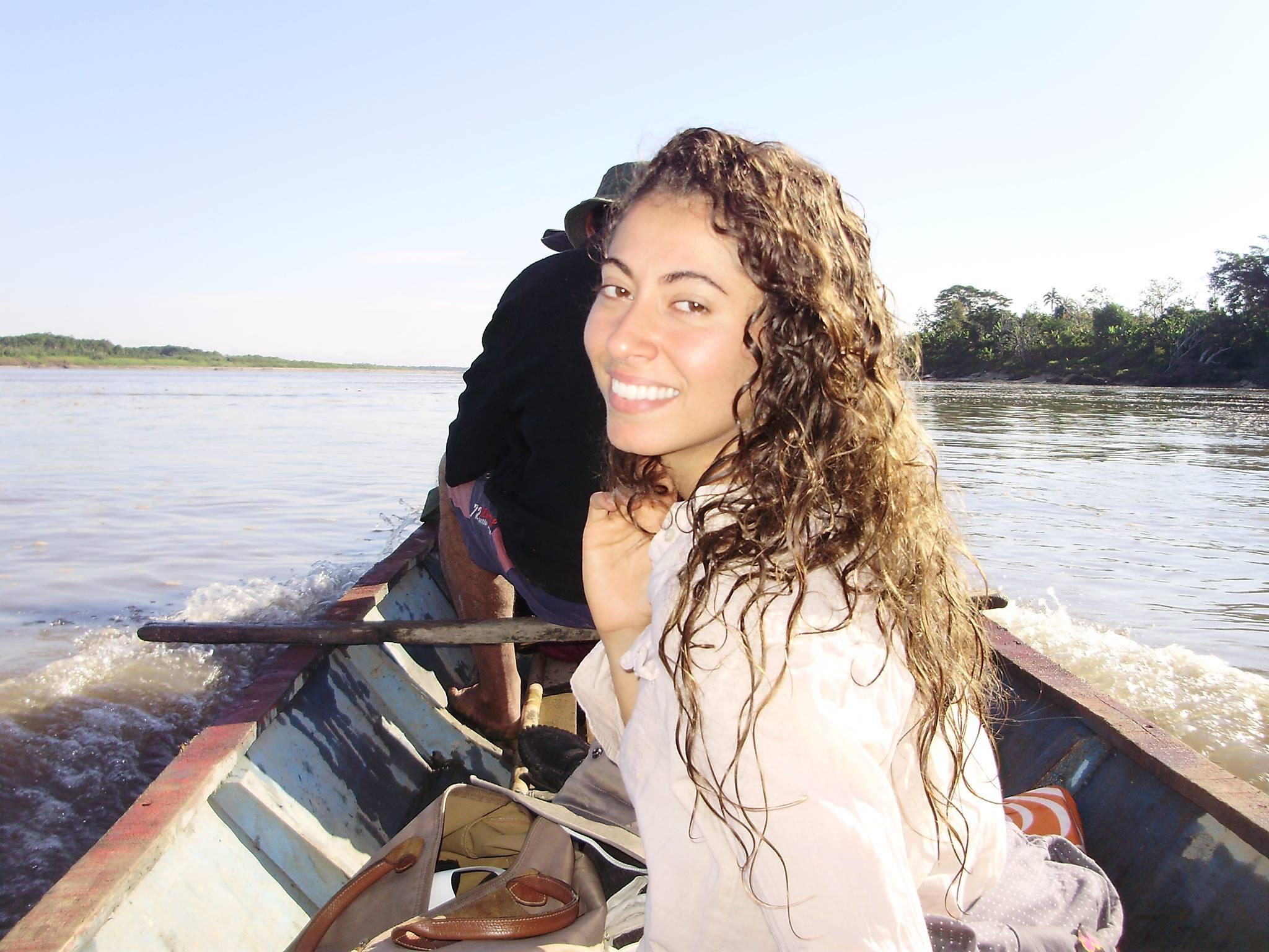 Dr. Nikki in Peru along the Ucayali River,2014