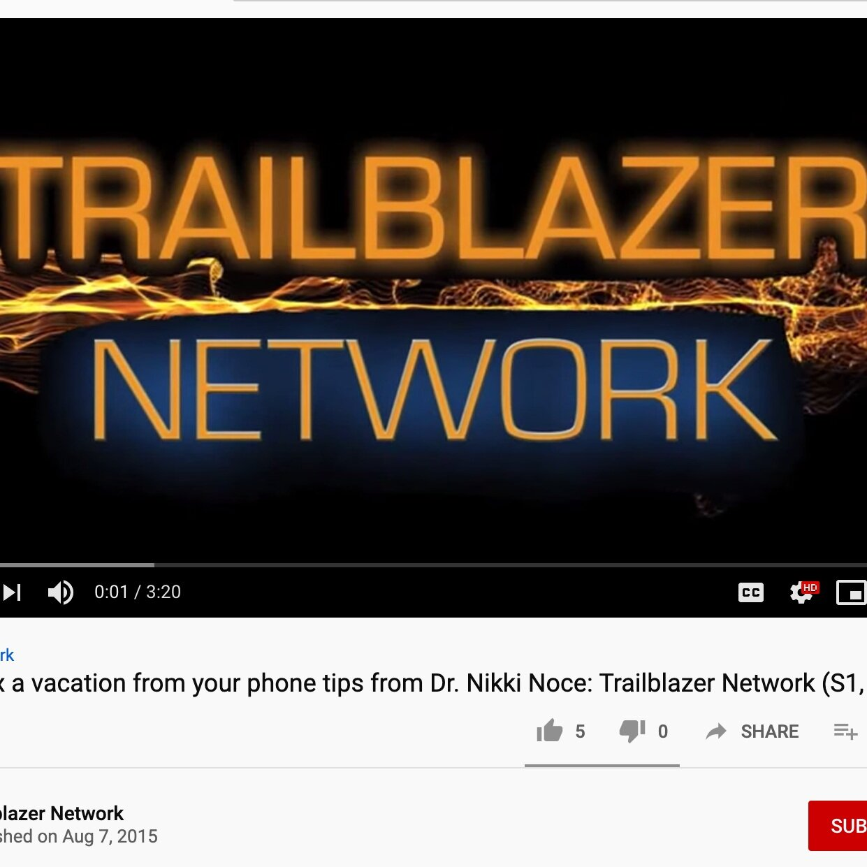Trailblazer Network - Take a break from your phone and really live your life with the Digital Detox! Dr. Nikki Noce, MD shares her weekly routine to detox from her phone with Digital Lifestyle Expert Sasha Horne. Dr. Nikki Noce is a medical doctor who left western medicine to pursue a career in wellness and prevention. Check out her channel here: https://www.youtube.com/c/drnikkinocemd her website http://www.drnikkinoce.com and on social media @drnikkinoce on Instagram and Twitter!