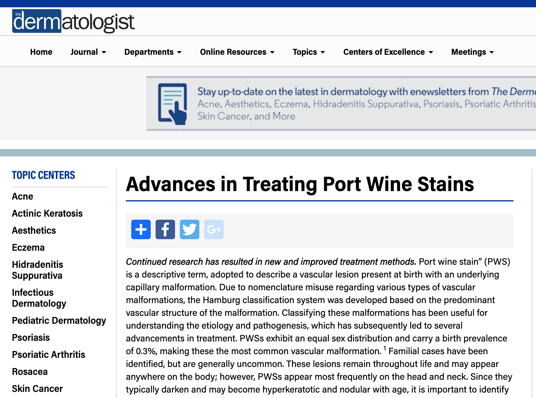 2010     Advances in Treating Port Wine Stains