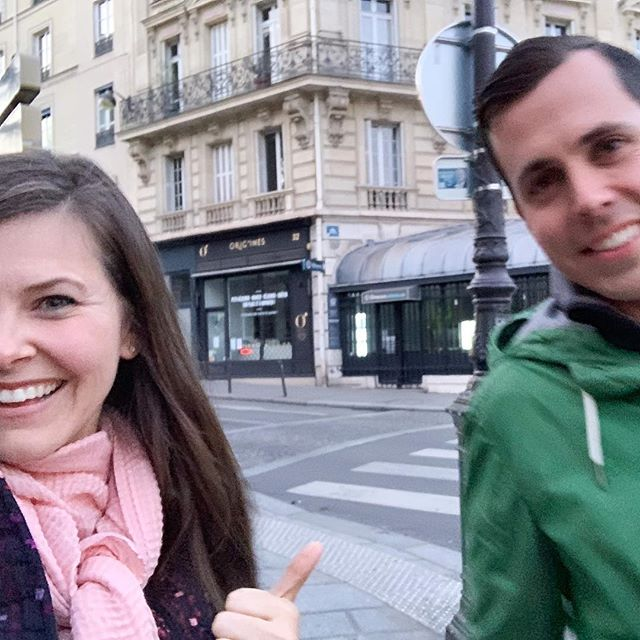 Just two Americans celebrating the 5th of May in Paris remembering 13 years ago when they had their first kiss in Little Rock, Arkansas. ❤️ Our first kiss story is a bit of a legend. Go on and share yours below. Double points if you can make the rest of us laugh or cry! 🏆 #parisknights
