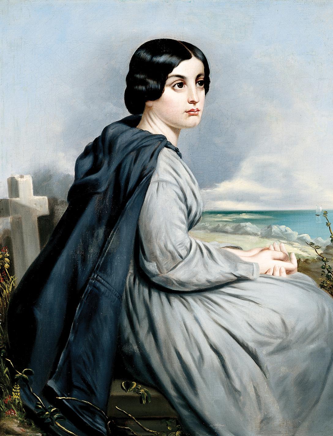 Charles Soule, Jr. Américain (1835-1897)  Civil War Widow , vers 1863 Huile sur toile, 76,2 x 61,6 cm Dayton Art Institute, Don de Mme. Helen Soule Boehm, 1961.18
