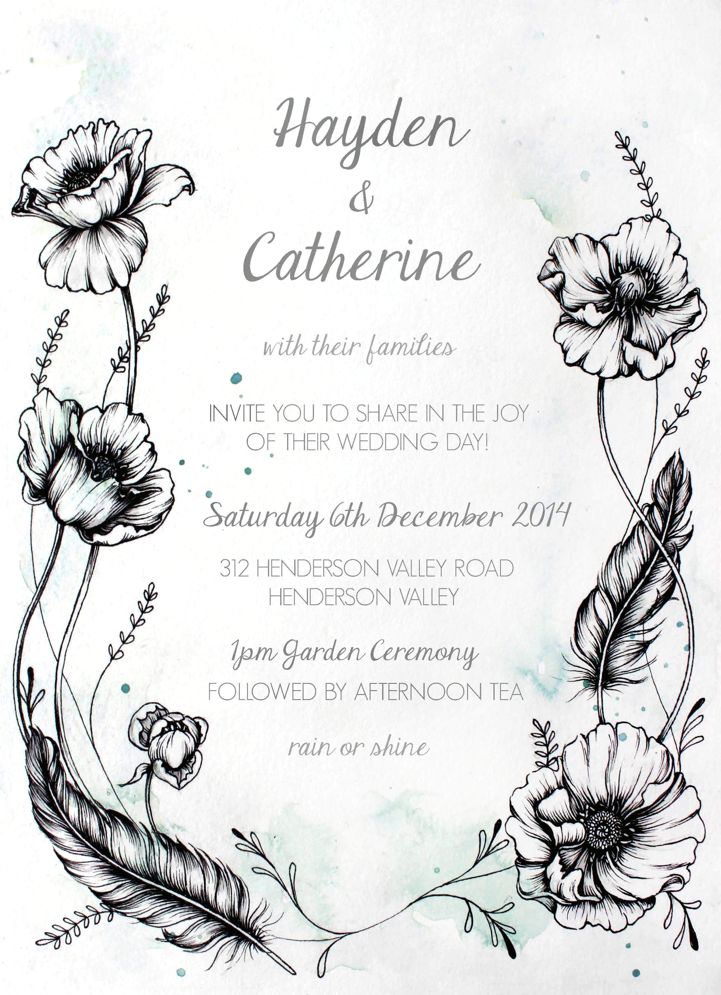 Wedding Invitation 2014