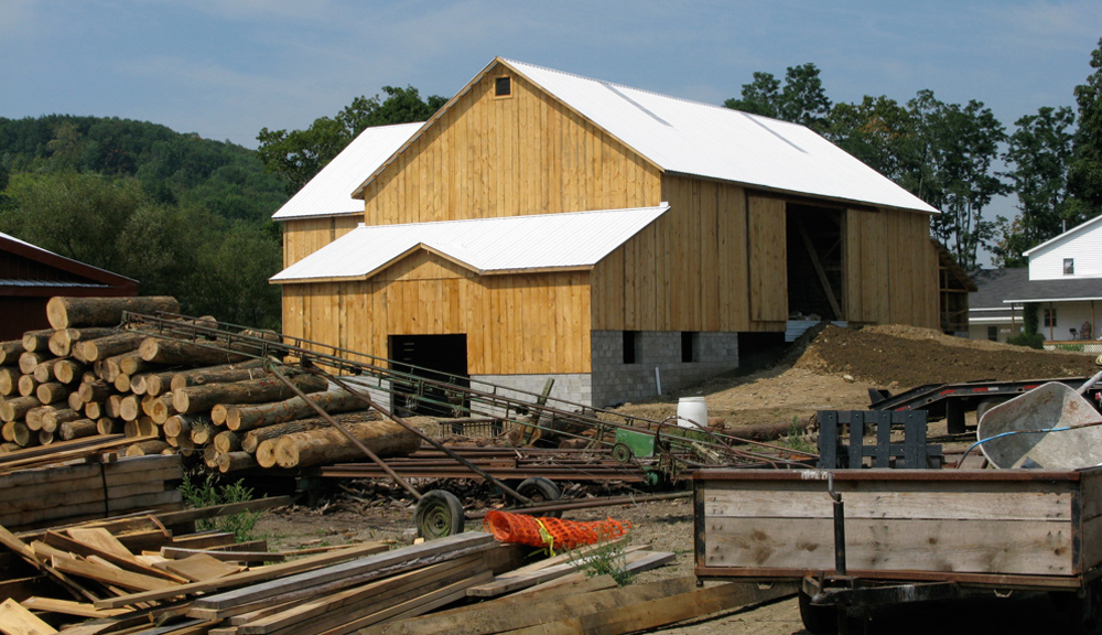 """finished barn that I watched """"raised"""""""