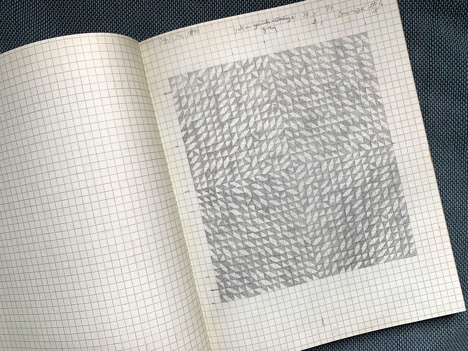 Original drawing by Anni Albers. Published in Anni Albers Notebook 1970 - 1980. David Zwirner Books.