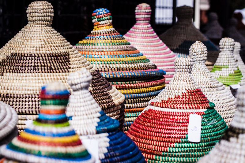West African Village Baskets / San Diego Commercial Photographer