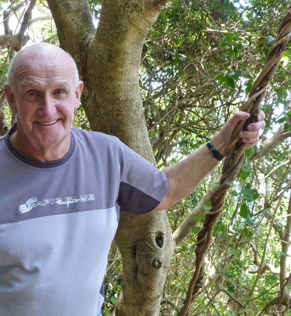 Dad, earlier this year, at 79. Burleigh Heads National Park.