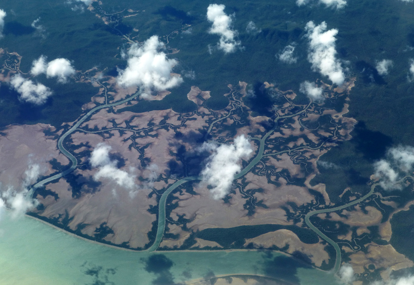 my own aerial view, on my way to Mackay, Queensland, May 2014.