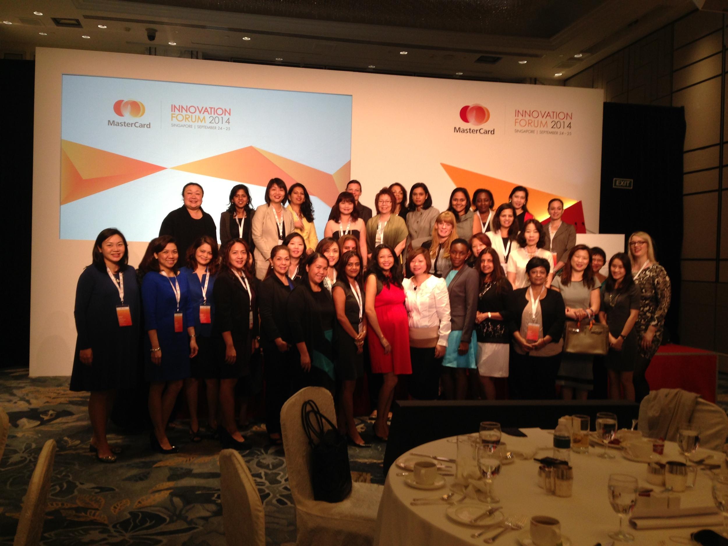 Women's Breakfast Talk at MasterCard Innovation Forum (September 2014)