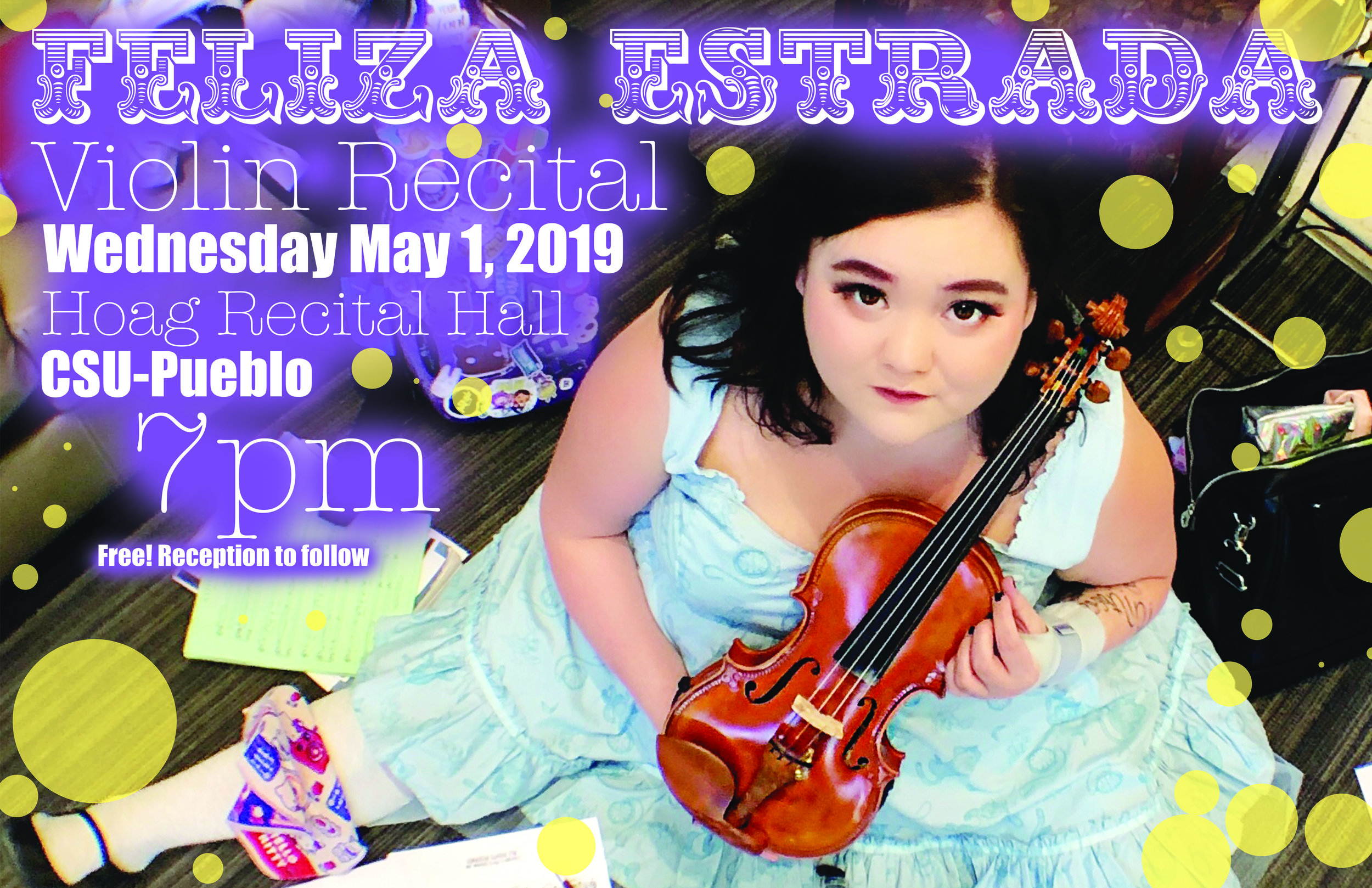 Past Event:Jr. Violin Recital - May 1st 2019 - 7pm - Hoag Recital Hall Colorado State University PuebloEvent Page