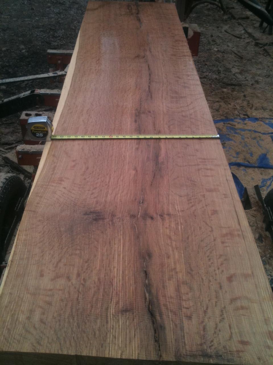 25 inch wide quarter-sawn oak