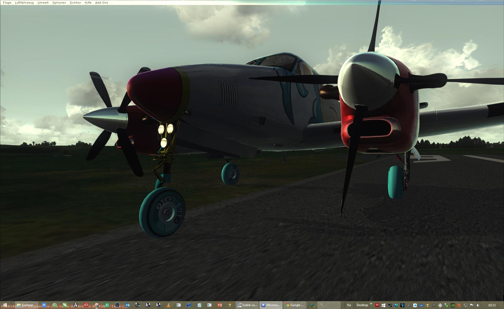 Carenado´s C90 King Air in UV´s