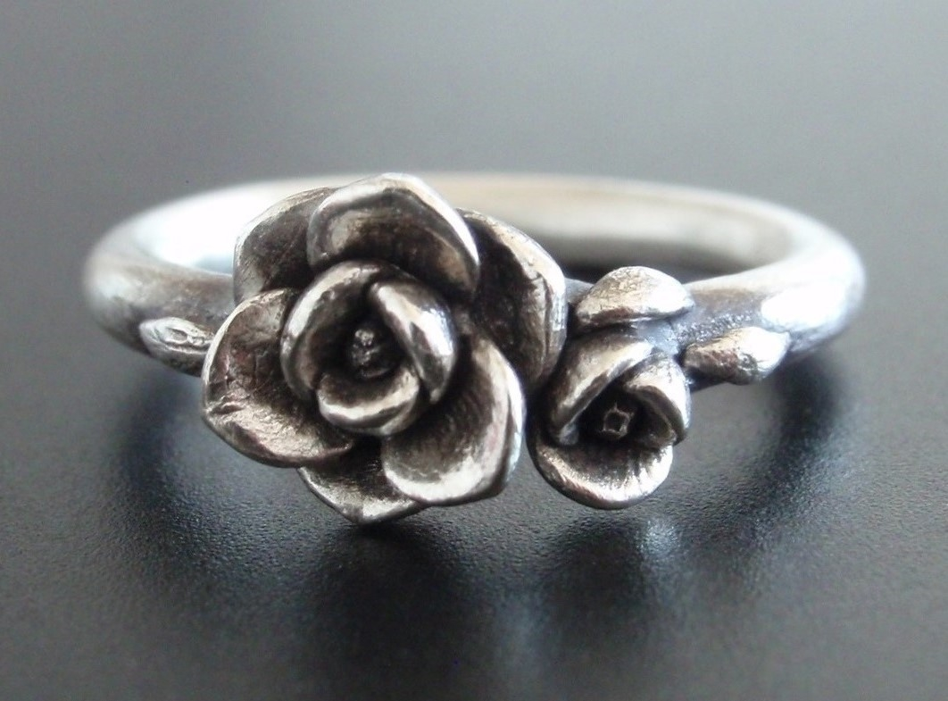 Magnolia Ring in Sterling Silver.