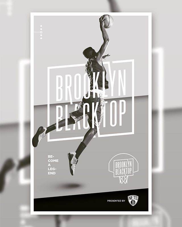 A branding concept we created for the Brooklyn Nets streetball tournament. 🏀💯
