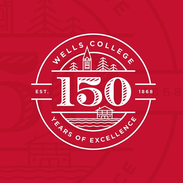 Celebrating 150 years? Pretty. Big. Deal. So excited to see the logo we created being displayed all over the Wells College campus this fall! #branding #logo #logos #design #welovebranding #icon #illustration #logoinspiration #wellscollege #college #art #graphicdesign #anniversary #marketing #adagency #wtn #weatherthenorm