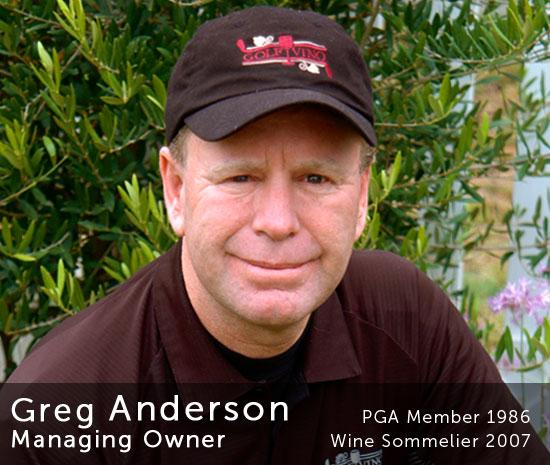 Greg Anderson, Managing Owner of Golf Vino