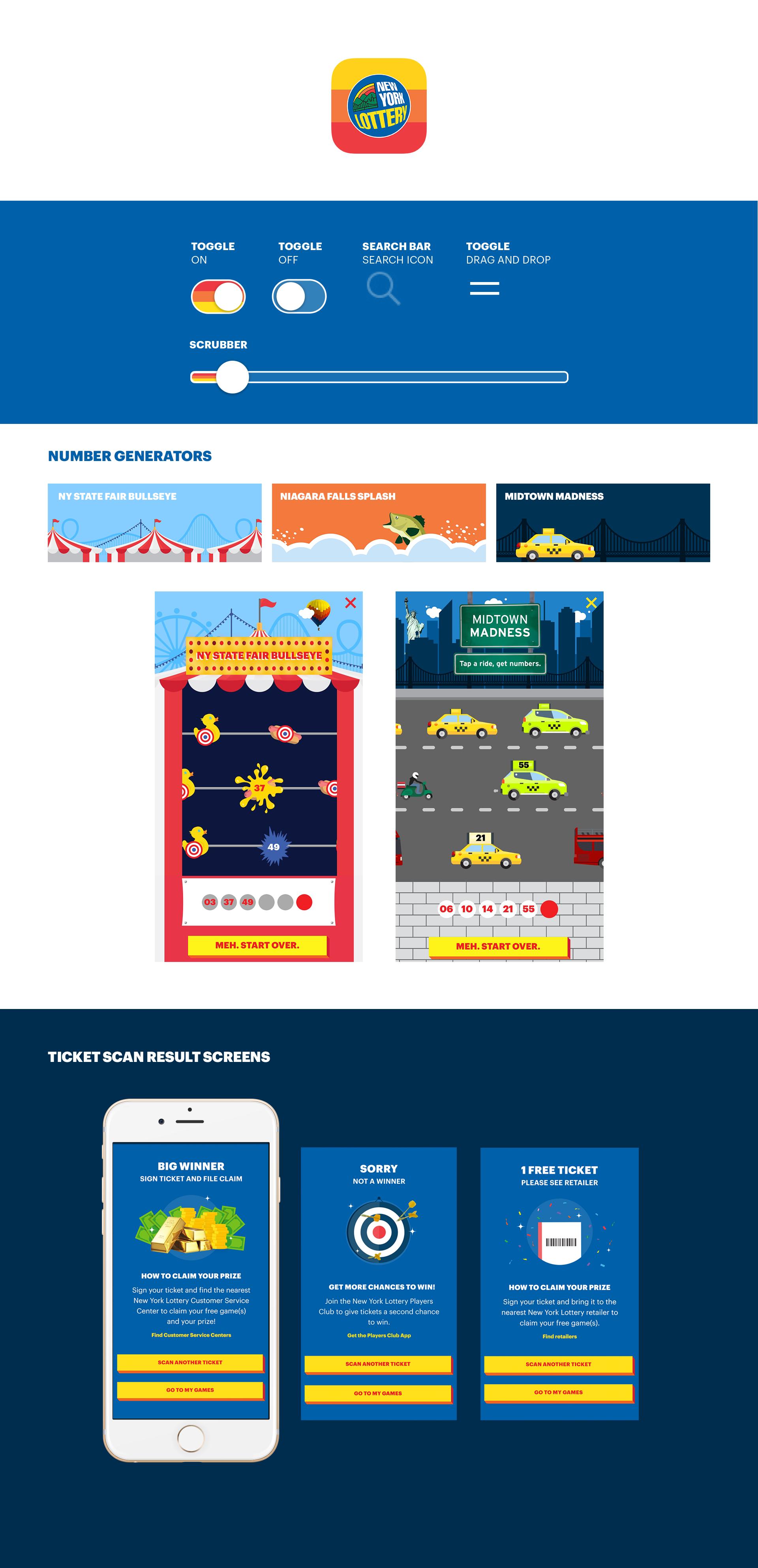 New York Lottery App Redesign — NOELLE