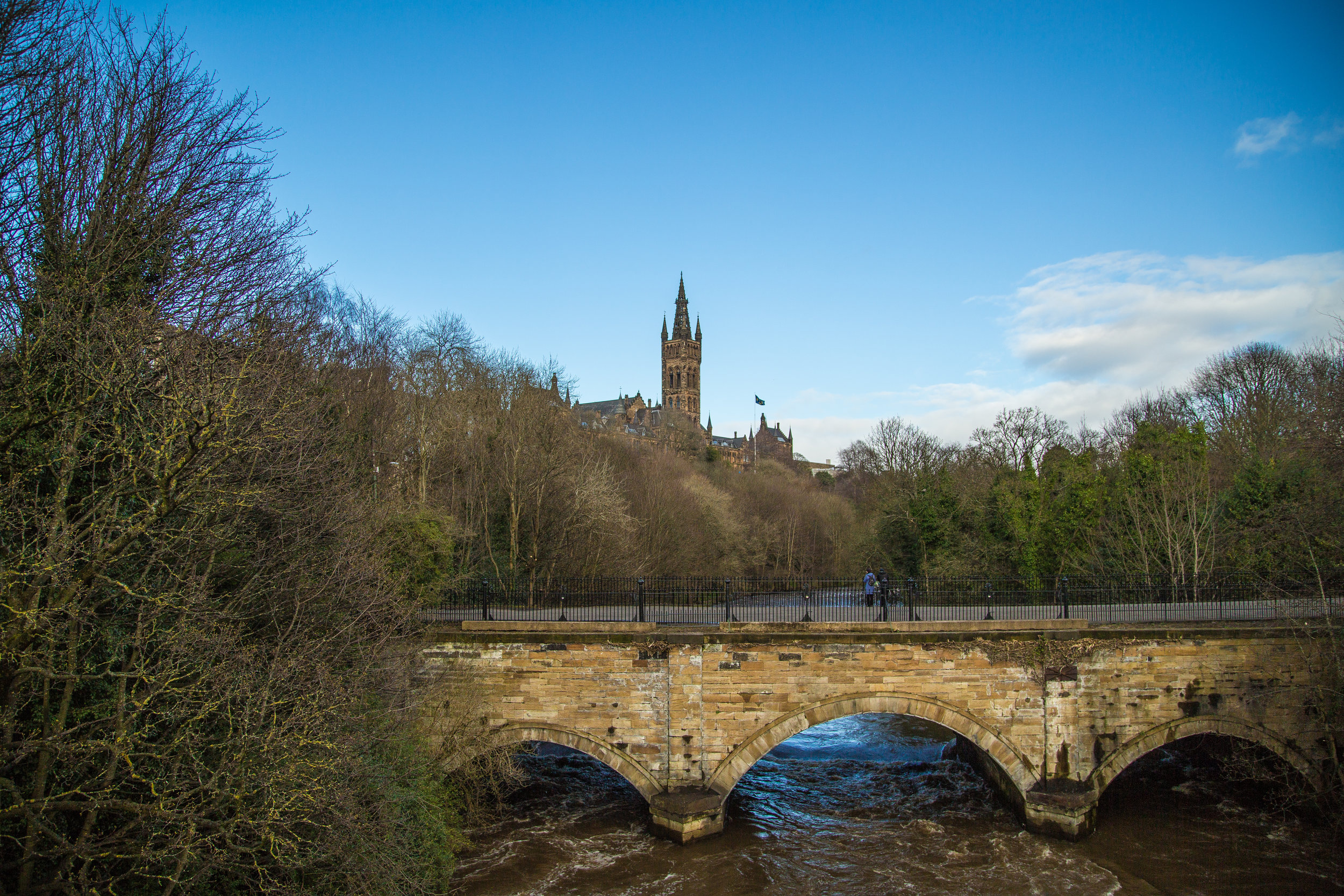 Partick Bridge and the River Kelvin