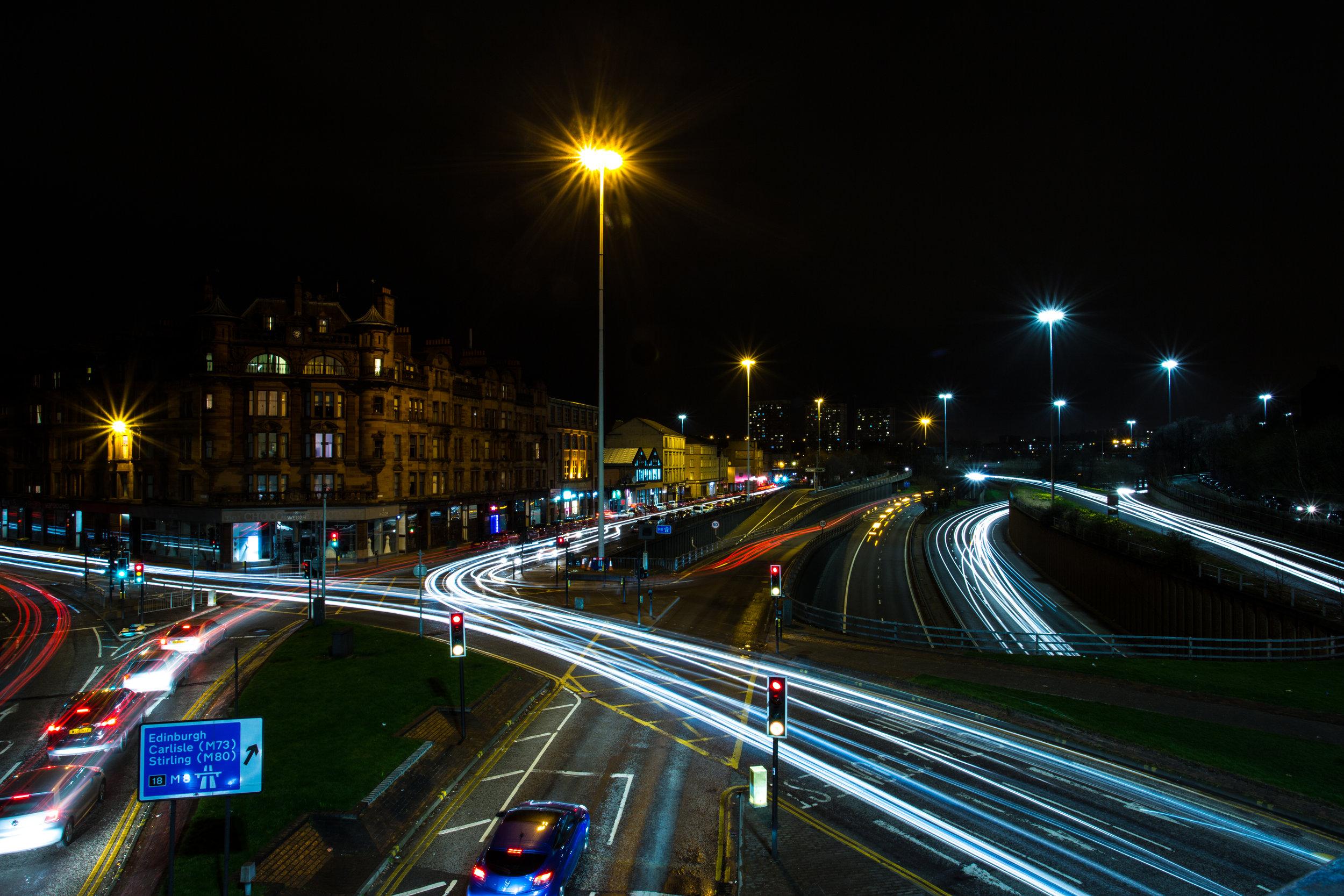 Charing Cross Light Trails